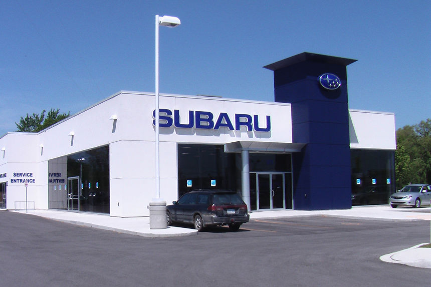 Commercial Project Photo - Subaru Dealership on Wharncliffe Road South in London Ontario